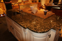Island with a beautiful granite top
