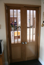Internal double door, the left side opens inwards, whilst the right side open out as a special request by our client.