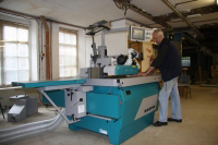 Workshop machinery.