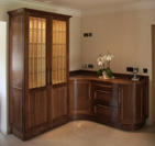 Walnut & Maple cabinets installed.