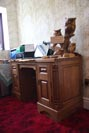 Matching desk, this has been made so that it will convert into a sideboard for future use; the centre