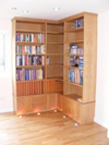 Tall Bookcases with lower drawer system for DVD's CD's and cassettes etc.