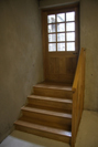 This shows the door fitted, with a small custom made stairway