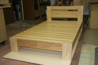 Commissioned bed made in Solid Ash