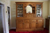 Special Welsh dresser designed by Mike Bowen and the client. Incorporated is a Welsh dragon