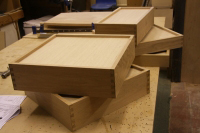 Some dovetailed drawers.