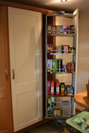 Swing pull-out larder.