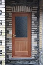 Exterior door made of Red Grandis.