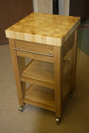 Small chefs cook bench, Oak with a Maple butchers block.