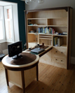 Study furniture in Walnut and Sycamore.