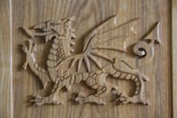 Carved Welsh Dragon